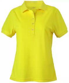 Dámská polokošile Active - Žlutá S
