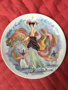 Albertine 1910 Women of the Century Plate Limoges France - pinned by pin4etsy.com