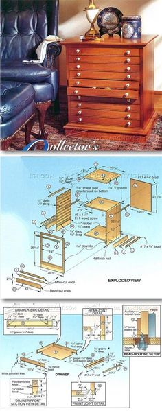 Collectors Cabinet Plans - Furniture Plans and Projects | WoodArchivist.com