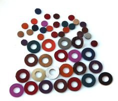 50 pcs  leather dots and circles by ramonaignat on Etsy