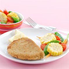 A twist on the classic schnitzel this recipe will be a winner with the kids.