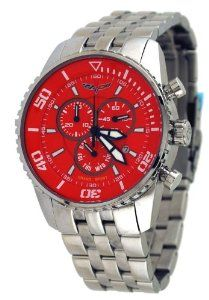 Corvette #CR215-4 Men's Grand Sport Stainless Steel Swiss Chronograph Red Dial Watch Corvette. $234.95. Mineral Crystal, Day/Date Display, Chronograph Functions, Luminous Hands and Markers. Water Resistant - 50M, Screw Down Case Back. Case Size:  45mm Diameter, 14mm Thickness. Stainless Steel Case and Band, Fold Over Push Button Deployment Clasp with Safety Lock Feature. Precise Swiss Quartz Movement