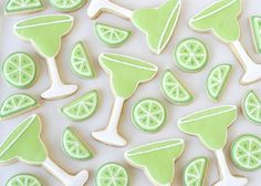 How cute are these margarita and lime cookies??