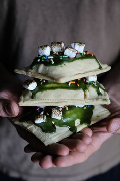 Matcha & White Chocolate S'mores Pop Tarts — Probably This