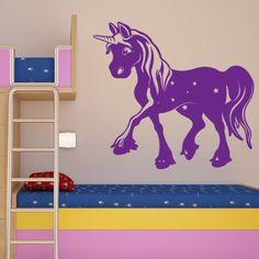 Magic Unicorn Wall Decal (24in x 23in )