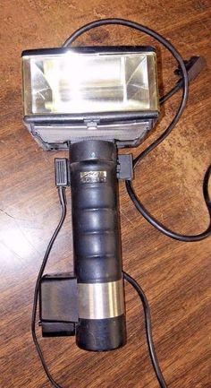 Vintage Metz 60CT-1 Handle Mount Flash Head Camera With Sync And Power Cables  #Metz