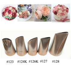 3.65AUD - 5Pcs/Set Flower Icing Piping Tip Nozzles Cake Decorating Pastry Baking Tools #ebay #Home & Garden