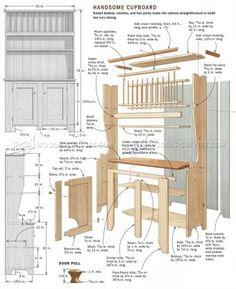 #2669 Cupboard Plans - Furniture Plans