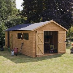 20' x 10' Shiplap Tongue and Groove Workshop Shed - Wooden Sheds - Garden Sheds