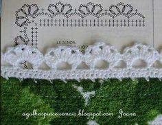 Granny Square Runner Pattern Diagram and Inspiration ⋆ Crochet Kingdom Crochet Boarders, Crochet Edging Patterns, Crochet Lace Edging, Crochet Motifs, Crochet Diagram, Crochet Chart, Love Crochet, Easy Crochet, Crochet Stitches