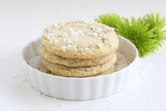 chewy lime and coconut sugar cookies