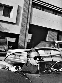 Steve McQueen. Driving. And looking back.
