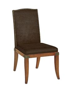 Chelsea Chair in w/out Arms in Light Walnut & Brown