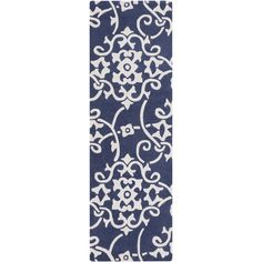 Ivy Navy Oriental Hand-Tufted Area Rug