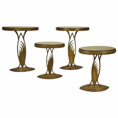 Rare Art Deco Store Display Stands or Tables, in the Manner of Edgar Brant | From a unique collection of antique and modern gueridon at https://www.1stdibs.com/furniture/tables/gueridon/