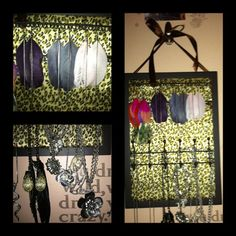 my closet door. Organized.