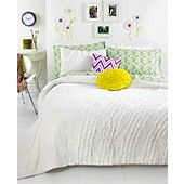 Teen Vogue Bedding, Ella Ruffle Comforter Sets. It also comes in teal/turquoise!