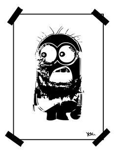 BANANAAA !?!# - Thuglife by YoXx  #minions #minion #tattoo #tattooart #streetart