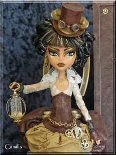 Camilla- Custom OOAK Steampunk time traveler by ~KrisKreations on deviantART