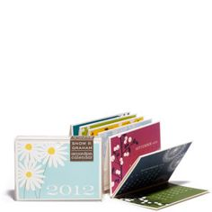 Folded pocket calendar.