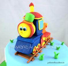 torta decorata di Bob il trenino per un bimbo  Bob train cake for a boy