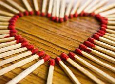 Light my Heart on Fire   @FairMail - Fair Trade Cards - Valentine's Day Cards - FDP6363A   Heart, Love, Match, Match Sticks