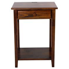 Practical and stylish, this night stand is built with four USB ports so you can charge your devices without taking up all the room on the wall. The solid wood construction and warm brown finish make it a timeless addition to your home.