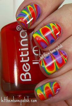 KellieGonzo: Guest Post by Let Them Have Polish: Bettina Rainbow Watermarble