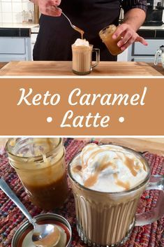 This Keto Caramel Latte recipe is bringing the cafe right to your kitchen. - This Keto Caramel Latte recipe is bringing the cafe right to your kitchen. It's like having a Keto Starbucks in your own home! This low carb latte is . Keto Coffee Recipe, Latte Recipe, Coffee Recipes, Keto Coffee Creamer, Low Carb Drinks, Caramel Latte, Keto Drink, Keto Cookies, Atkins
