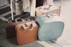 Old suitcases! Love them all, especially the two on the right.