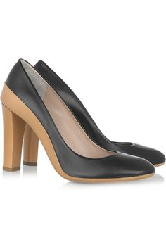Wear-to-Work Style:    Chloe Two-tone Leather Pumps
