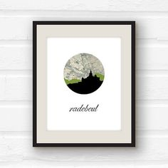 Germany map // Germany decor // Radebeul by PaperFinchDesign