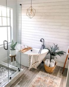 Bathroom inspiration // Home Sweet Spaces - interior design ideas - inspiration . - Bathroom inspiration // Home Sweet Spaces – interior design ideas – Bathroom inspiration // Hom - Bad Inspiration, Home Decor Inspiration, Decor Ideas, Small Bathroom Inspiration, Garden Inspiration, Decorating Ideas, Bathroom Inspo, Bathroom Ideas, Modern Boho Bathroom