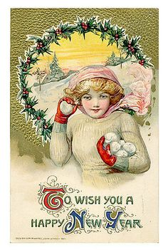 Vintage New Year Postcard | Flickr - Photo Sharing!