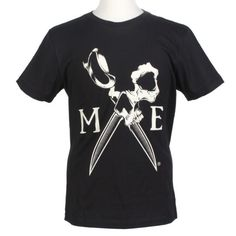 Marc Ecko Men's Cut & Sew Skull Scissors Shirt