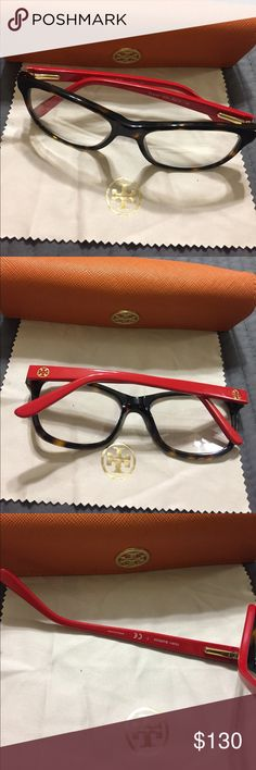Tory burch frames/used/ case and dust cloth Frames are in excellent condition. Only worn a couple of times. Size 52mm. Tory Burch Accessories Glasses