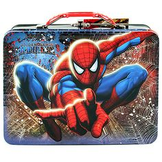 Spider-Man Web Swinging Tin Lunch Box