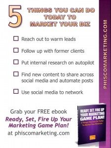A Five Step Plan To Market Your Business Today Ι Phisco Marketing