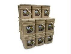 6 Months Supply (3 Servings/Day)-Wise Company Grab and Go Food Kits are perfect for any unplanned emergency. Our ready-made meals are packed in airtight NITROGEN PACKED Mylar pouches, and then encased in durable plastic containers.  2,160 total servings with 2 servings of food per day for 4 adults or 2 adults and 4 children for 12 months packaged in 24 - 120 Serving Buckets (6 Breakfast & 12 Entr e Buckets)