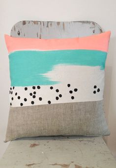 Peach and mint next cushion colour theme when we buy a new couch!