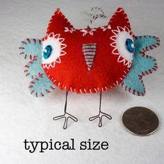 felt owl ornament - so bright and cheerful!