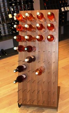 Porta #bottiglie #vino #design in legno Esigo 4 Tech per #arredamento enoteca - Esigo 4 Tech modern #design #wine #bottles rack for wine shop furniture