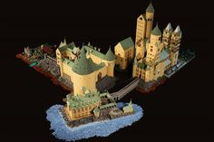 Alice Finch recreated Hogwarts from the beloved Harry Potter books with LEGOs. via My Modern Met: A Seattle mom has brought the beloved Hogwarts School of Witchcraft and Wizardry to life wi… Lego Harry Potter, Harry Potter Film, Harry Potter Magic, Harry Potter Hogwarts, Lego Hogwarts, Lego 9, Cool Lego, Awesome Lego, Awesome Mom