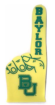 Rule #1 of being a Baylor Bear: rock the foam finger. #SicEm