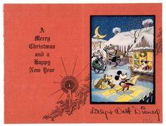 1931 Walt Disney Christmas card