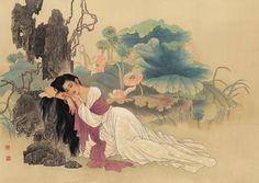 Wang Meifang(王美芳) &   Zhao Guojing(赵国经) , 荷花仕女