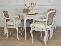 Antique french style dining set by FullBloomCottage on Etsy