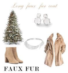 """""""Winter"""" by alwaysseven on Polyvore featuring Lilli Ann, Yves Saint Laurent, Ippolita, Messika and Frontgate"""