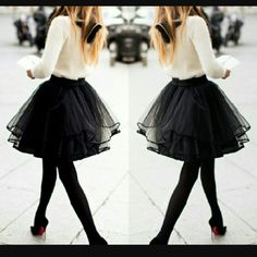 High Waisted Black Tulle Skirt Beautiful black skirt. Very good quality and has black suede polka dots on it. Girls size. Will fit size xs or small. It is high wasted on me because i am almost a medium. But you dont have to wear it high waisted.  The first picture is not the actual skirt. Just showing what a tulle skirt looks like. It is longer than that skirt.  Can model apon request ASOS Skirts Midi