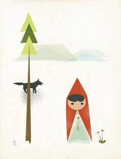 Little Red Riding Hood  Print I Limited Edition by ShopAmySullivan, $15.00
